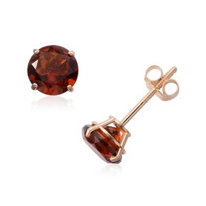 14K YG Madeira Citrine Earrings TGW 1.35 cts.