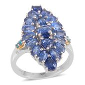 Himalayan Kyanite, Malgache Neon Apatite 14K YG and Platinum Over Sterling Silver Ring (Size 6.0) TGW 7.24 cts.