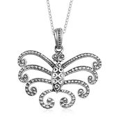 Sterling Silver Butterfly Pendant With Stainless Steel Chain (20 in, 11.8 g)
