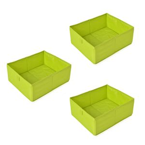 Set of 3 Green  Drawer Organizer