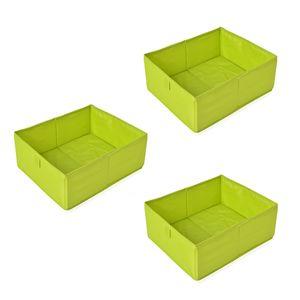 Set of 3 Green  Drawer Organizer