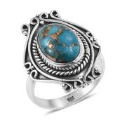 Artisan Crafted Mojave Blue Turquoise Sterling Silver Ring (Size 7.0) TGW 6.050 cts.