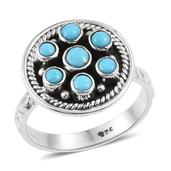 Artisan Crafted Arizona Sleeping Beauty Turquoise Sterling Silver Ring (Size 6.0) TGW 0.870 cts.