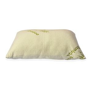 J Francis Memory Foam Cloud Pillow with Bamboo Pillow Cover Hypoallergenic, Antimicrobial (Queen Size 29x19 in)