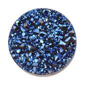 Blue Drusy Quartz (Rnd 12 mm) TGW 2.80 Cts.