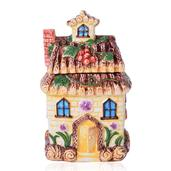Yellow Ceramic House Cookie Jar (8x4 in)