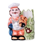Ceramic Chef Kitchenware Container (6.5x5.5x2.5 in)