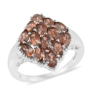 Jenipapo Andalusite Platinum Over Sterling Silver Ring (Size 6.0) TGW 3.21 cts.