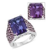 Lavender Alexite, Orissa Rhodolite Garnet Platinum Over Sterling Silver Ring (Size 6.0) TGW 15.260 cts.