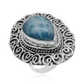 Bali Legacy Collection Larimar Sterling Silver Elongated Ring (Size 9.0) TGW 11.97 cts.