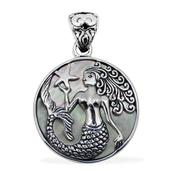 Bali Legacy Collection Mother of Pearl Sterling Silver Pendant without Chain