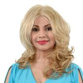 Easy Wear Hair Long and Wavy Wig - Light Gold Blonde