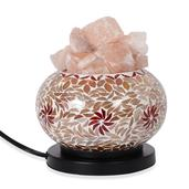 Deepak's Dazzling Deal Handcrafted Mosaic Table Lamp with Rock Salt
