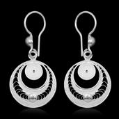 Bali Legacy Collection Sterling Silver Earrings (2.8 g)