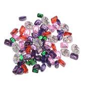 Simulated Multi Color Diamond Set (MIX Mix mm) TGW 170.05 Cts.