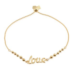 14K YG Over Sterling Silver Magic Ball Love Bracelet (7.50 In)