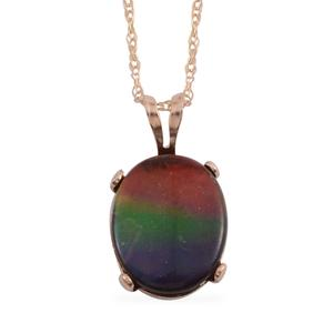14K YG Canadian Ammolite Pendant with Chain (18 in) TGW 2.00 cts.
