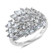 Brazilian Goshenite Platinum Over Sterling Silver Ring (Size 7.0) TGW 4.15 cts.