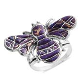 Santa Fe Style Mojave Purple Turquoise Sterling Silver Ring (Size 9.0) TGW 4.650 cts.