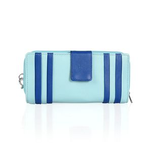 Turquoise and Blue Genuine Leather RFID Wallet