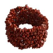 Tucson Jewels Red Jasper Bracelet (Stretchable) TGW 505.500 cts.