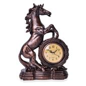 Horse Shape Resin Clock (10.62x6.69x2.95 in) (AA Batteries Not Included)
