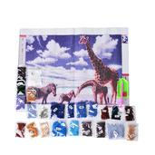 Deepak's Dazzling Deal Multi Color Beads, DIY 3D Drill Giraffe and Zebra Canvas Painting (19.5x15.5 in)