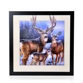 Deer Printed 3D Painting (16.5x16.5 in)