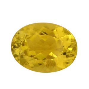 IGI Certified Canary Tourmaline Faceted (Ovl 9.78x7.38 4A) TGW 2.30 cts.
