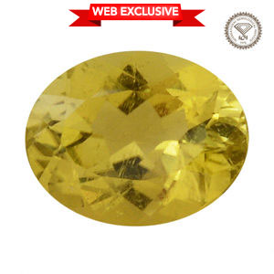 IGI Certified Canary Tourmaline Faceted (Ovl 10.21x8.03 4A) TGW 2.74 cts.