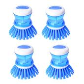 Set of 4 Scrubber Sponges with Built in Soap Dispenser-Blue