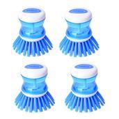 Blue Resin Set of 4 Soap Brush (3.5x3.2 in)