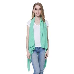 Seafoam 100% Polyester Waterfall Kimono (One Size)