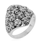 Bali Legacy Collection Sterling Silver Floral Ring (Size 8.0) (7.20 g)