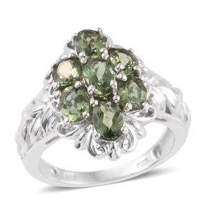 Forte Dauphin Apatite Platinum Over Sterling Silver Ring (Size 6.0) TGW 2.83 cts.