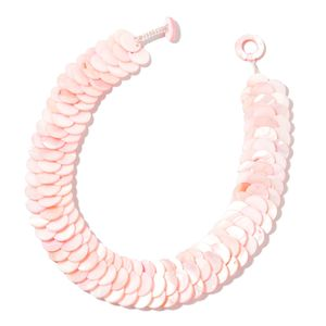Pink Coin Shell Necklace (18 in)