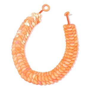 Orange Shell Necklace (18 in)