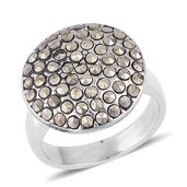 Swiss Marcasite Stainless Steel Cluster Ring (Size 10.0) TGW 10.00 cts.
