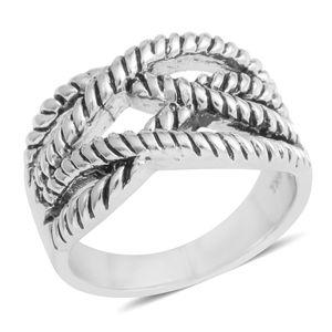 Silvertone Openwork Ring (Size 9.0)
