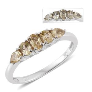 Turkizite Platinum Over Sterling Silver Ring (Size 8.0) TGW 0.86 cts.