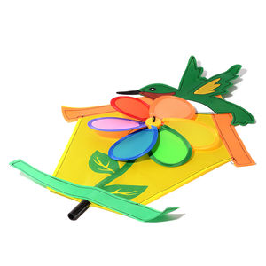 Flower Wind Spinner in Birdhouse (8 in)