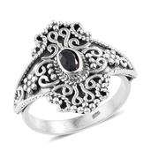 Artisan Crafted Kanchanaburi Blue Sapphire Sterling Silver Ring (Size 7.0) TGW 0.55 cts.