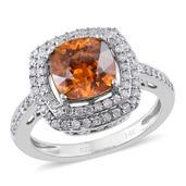 14K WG Picos Altos Sphalerite, Diamond Ring (Size 8.0) TDiaWt 0.46 cts, TGW 3.51 cts.
