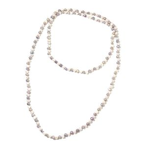 Freshwater Gray and White Pearl Endless Necklace (60 in)