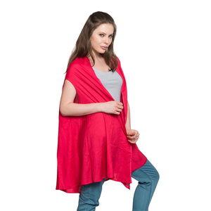 Coral 100% Rayon Round Drape Kimono Vest (Free Size)