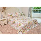 Multi Color Printed 100% Microfiber Quilt (86x86 in) and Set of 2 Sham (20x26x2 in)