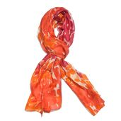 Tangerine 100% Natural Mulberry Silk Scarf (70x19 in)