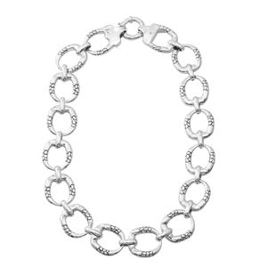 Sterling Silver Linking Necklace (20 in, 68 g)