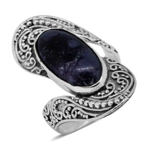 Bali Legacy Collection Utah Tiffany Stone Sterling Silver Ring (Size 6.0) TGW 7.15 cts.