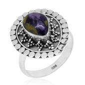 Bali Legacy Collection Tasmanian Stichtite Sterling Silver Ring (Size 5.0) TGW 2.37 cts.
